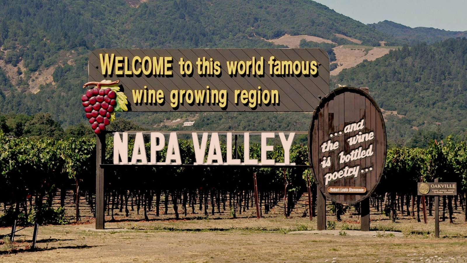 Welcome to world famous Napa Valley